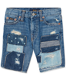 Polo Ralph Lauren Slouch Slim-Fit Cotton Denim Shorts, Little Boys