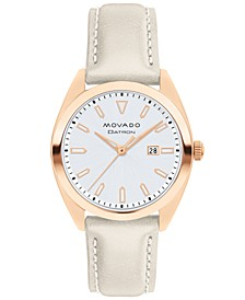Women's Swiss Heritage Series Datron Gray Putty Leather Strap Watch 31mm