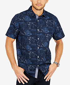 Nautica Men's Map-Print Oxford Shirt