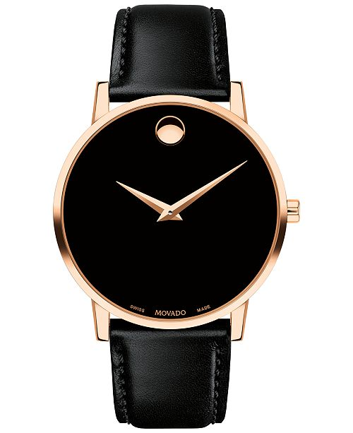 922f2f04c19 ... Movado Men s Swiss Museum Classic Black Leather Strap Watch 40mm ...