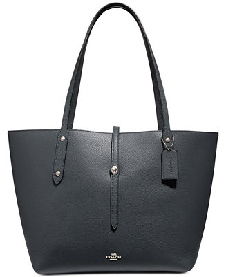 7820c31a6e758 COACH Market Tote in Polished Pebble Leather   Reviews - Handbags    Accessories - Macy s