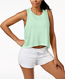 Calvin Klein Performance Epic Knit High-Low Tank Top