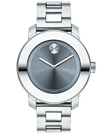 Women's Swiss BOLD Stainless Steel Bracelet Watch 36mm, Created for Macy's