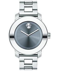 Movado Women's Swiss BOLD Stainless Steel Bracelet Watch 36mm, Created for Macy's