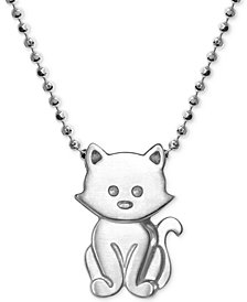 "Alex Woo Kitten 16"" Pendant Necklace in Sterling Silver"