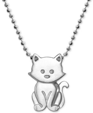 """Kitten 16"""" Pendant Necklace in Sterling Silver"""