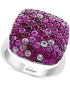 EFFY® Ruby (1-7/8 ct. t.w.) & Pink Sapphire (1-1/3 ct. t.w.) Heart Ring in Sterling Silver