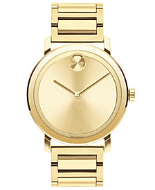 Movado Men's BOLD Evolution Gold-Tone Stainless Steel Bracelet Watch 40mm