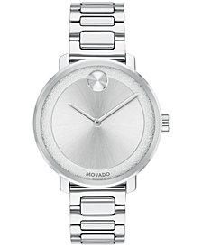 Movado Women's Swiss BOLD Stainless Steel Bracelet Watch 34mm