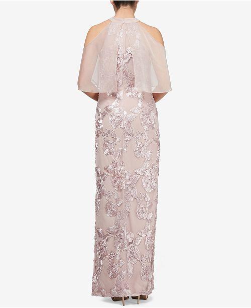 Cold Fashions SL Gown Shoulder Mauve Soutache Pn6Cq
