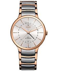 Rado Men's Swiss Automatic Centrix Two-Tone PVD Stainless Steel Bracelet Watch 40mm