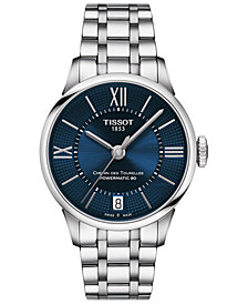 Tissot Women's Swiss Chemin des Tourelles Powermatic 80 T-Classic Gray Stainless Steel Bracelet Watch 32mm