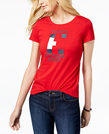 Tommy Hilfiger Cotton Flag Logo T-Shirt, Created for Macy's