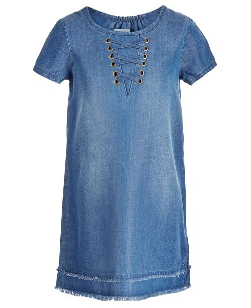 458dd98024 Toddler Denim Dress With Lace - Dress Foto and Picture