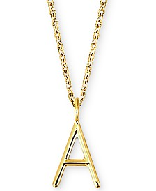 "Sarah Chloe Amelia Initial 16"" Pendant Necklace in 14K Gold"