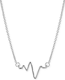 """Heartbeat Necklace in 14k Gold over Silver, 16"""" + 2"""" extender (also available in Sterling Silver)"""