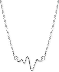 "Sarah Chloe Heartbeat Necklace in 14k Gold over Silver, 16"" + 2"" extender (also available in Sterling Silver)"