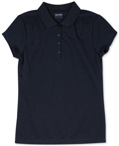 Nautica Big Girls Plus-Size Performance Polo Shirt