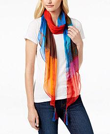 I.N.C. Tie-Dye Tassel Bias Scarf, Created for Macy's