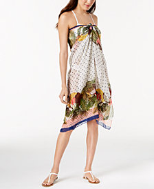 I.N.C. Tropical Stripe Wrap & Cover-Up, Created for Macy's