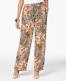 Thalia Sodi Mixed-Print Pull-On Pants, Created for Macy's