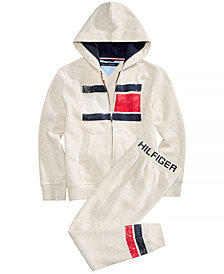 Tommy Hilfiger Big Boys Graphic-Print Hoodie & Sweatpants Separates