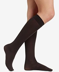 Women's  Opaque Knee High Trouser Hosiery 6423