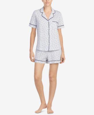 5a4b18081a Logo Contrast-Piping Knit Boxer Pajama Set