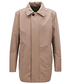 BOSS Men's Regular/Classic-Fit Water-Repellent Car Coat