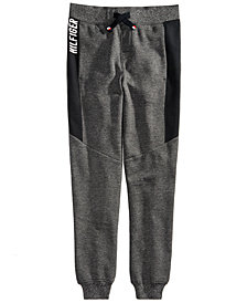 Tommy Hilfiger Big Boys Marled Pieced Jogger Pants