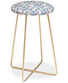 Deny Designs Dash and Ash Pinky Palms Counter Stool