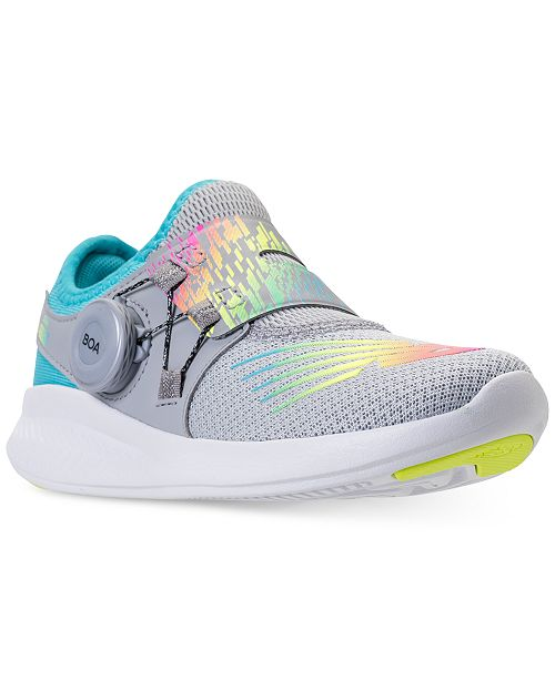 86c1e6be285df ... New Balance Little Girls' FuelCore Reveal Running Sneakers from Finish  ...