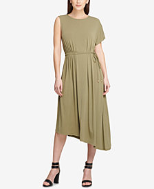 DKNY Asymmetrical Midi Dress, Created for Macy's