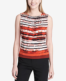 Calvin Klein Printed Pleated Shell