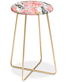 Deny Designs Marta Barragan Camarasa Abstract Tropical Counter Stool