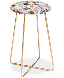 Deny Designs Marta Barragan Camarasa Flowery Fractal Counter Stool