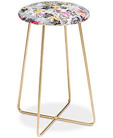 Deny Designs Marta Barragan Camarasa Flowery Fractal Counter Stool