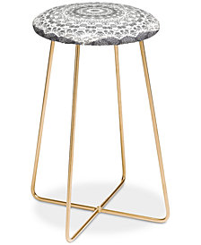 Deny Designs Monika Strigel Trip to Happiness Black Counter Stool