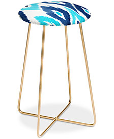 Deny Designs Natalie Baca Malibu Blue Ikat Counter Stool