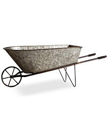 Home Essentials Decorative Galvanized Wheelbarrow