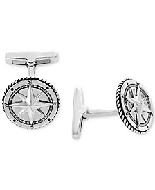 EFFY® Men's Rope-Style Compass Cuff Links Sterling Silver