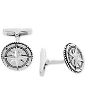 e216328404 EFFY® Men s Rope-Style Compass Cuff Links Sterling Silver
