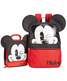 Mickey Mouse Little & Big Boys Backpack & Global Design Concepts Double-Compartment Lunch Bag
