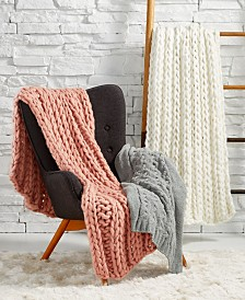 Lacourte Heathered Knit Throw Collection, Created for Macy's