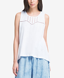 DKNY High-Low Swing Tank Top