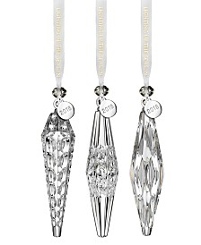 Waterford 3-Pc. Icicle Ornament Set