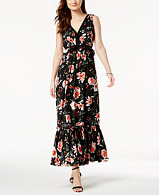 Ivanka Trump V-Neck Floral Maxi Dress