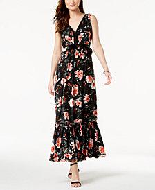 Ivanka Trump V-Neck Floral Maxi Dress