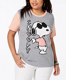 Disney Plus Size Snoopy Greek Dog Colorblocked T-Shirt