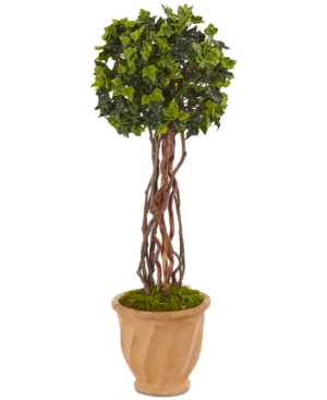 Nearly Natural 3 English Ivy UvResistant IndoorOutdoor Artificial Tree in Terracotta Pot